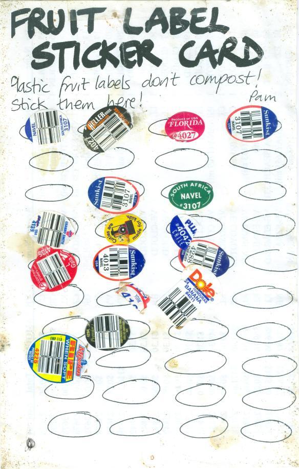 Fruit Label Sticker Card 3
